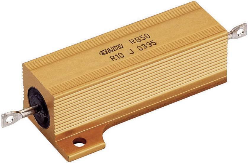 Vysokovýkonný rezistor ATE Electronics RB50/, hodnota odporu 0.47 Ohm, axiálne vývody, 50 W, 1 ks