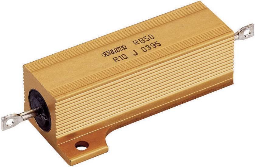 Vysokovýkonný rezistor ATE Electronics RB50/, hodnota odporu 47 Ohm, axiálne vývody, 50 W, 1 ks