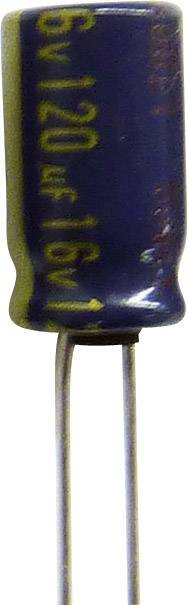 Elektrolytický kondenzátor Panasonic EEUFC1J121B, 5 mm, 120 µF, 63 V, 20 %, 1 ks