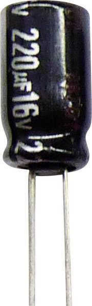 Elektrolytický kondenzátor Panasonic ECA1EHG221, radiálne vývody, 220 µF, 25 V/DC, 20 %, 1 ks
