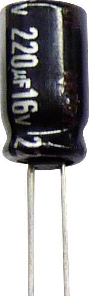 Elektrolytický kondenzátor Panasonic ECA1VHG221B, radiálne vývody, 220 µF, 35 V, 20 %, 1 ks