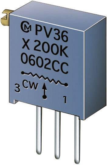 Cermetový trimer Murata PV36X105C01B00, lineárny, 1 MOhm, 0.5 W, 1 ks
