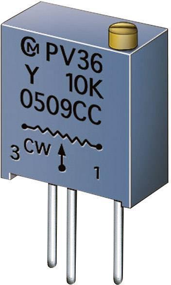 Cermetový trimer Murata PV36Y504C01B00, lineárny, 500 kOhm, 0.5 W, 1 ks