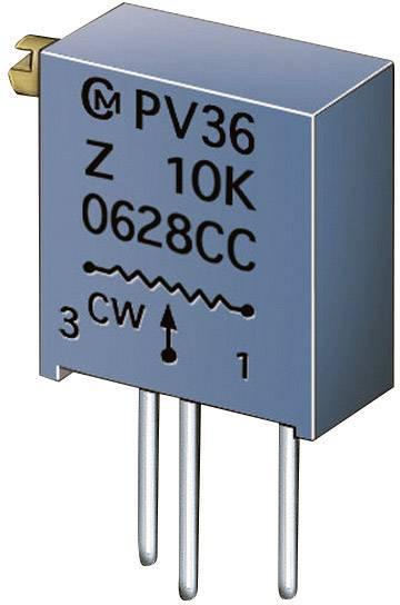 Cermetový trimer Murata PV36Z104C01B00, lineárny, 100 kOhm, 0.5 W, 1 ks