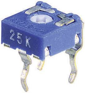 Trimer CA6 V, lineárny, 1 kOhm, 0.1 W, 1 ks