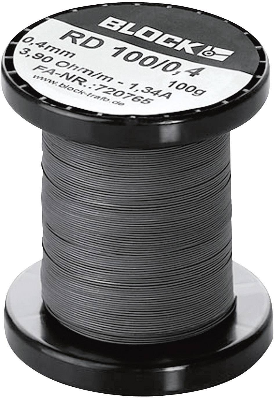 Odporový drát (konstantan) Block RD 100/0,1, 62.4 Ω/m, 1430 m