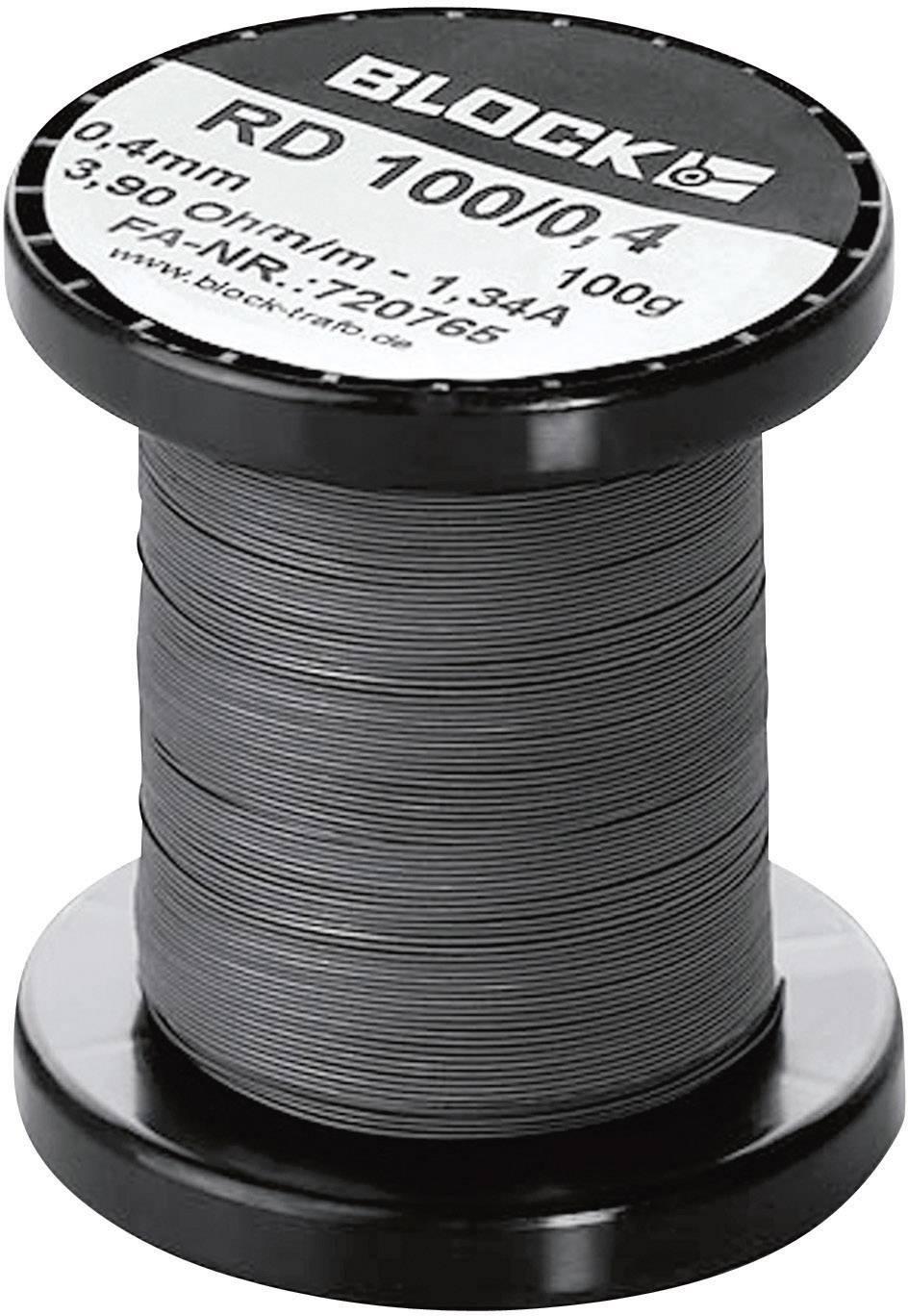 Odporový drôt Block RD 100/4,0, 0.039 Ω/m, 0.8 m