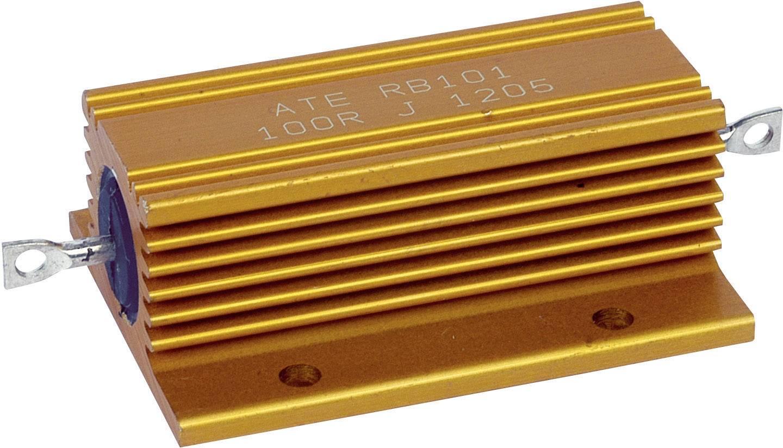 Vysokovýkonný rezistor ATE Electronics RB101, hodnota odporu 10 kOhm, axiálne vývody, 100 W, 1 ks