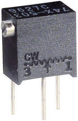 Víceotáčkový trimr Vishay, 0,25 W, 10%, typ 74X, 50K