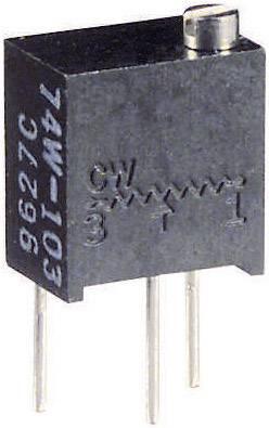 Vretenový trimer Vishay 74W 500R, lineárny, 500 Ohm, 0.25 W, 1 ks