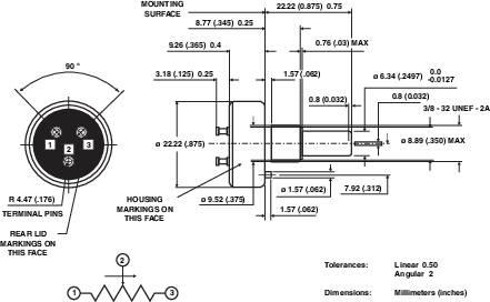 Potenciometr z vodivého plastu 1 W Typ 357
