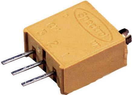 Vretenový trimer Vishay 6 W 10R, lineárny, 10 Ohm, 0.5 W, 1 ks