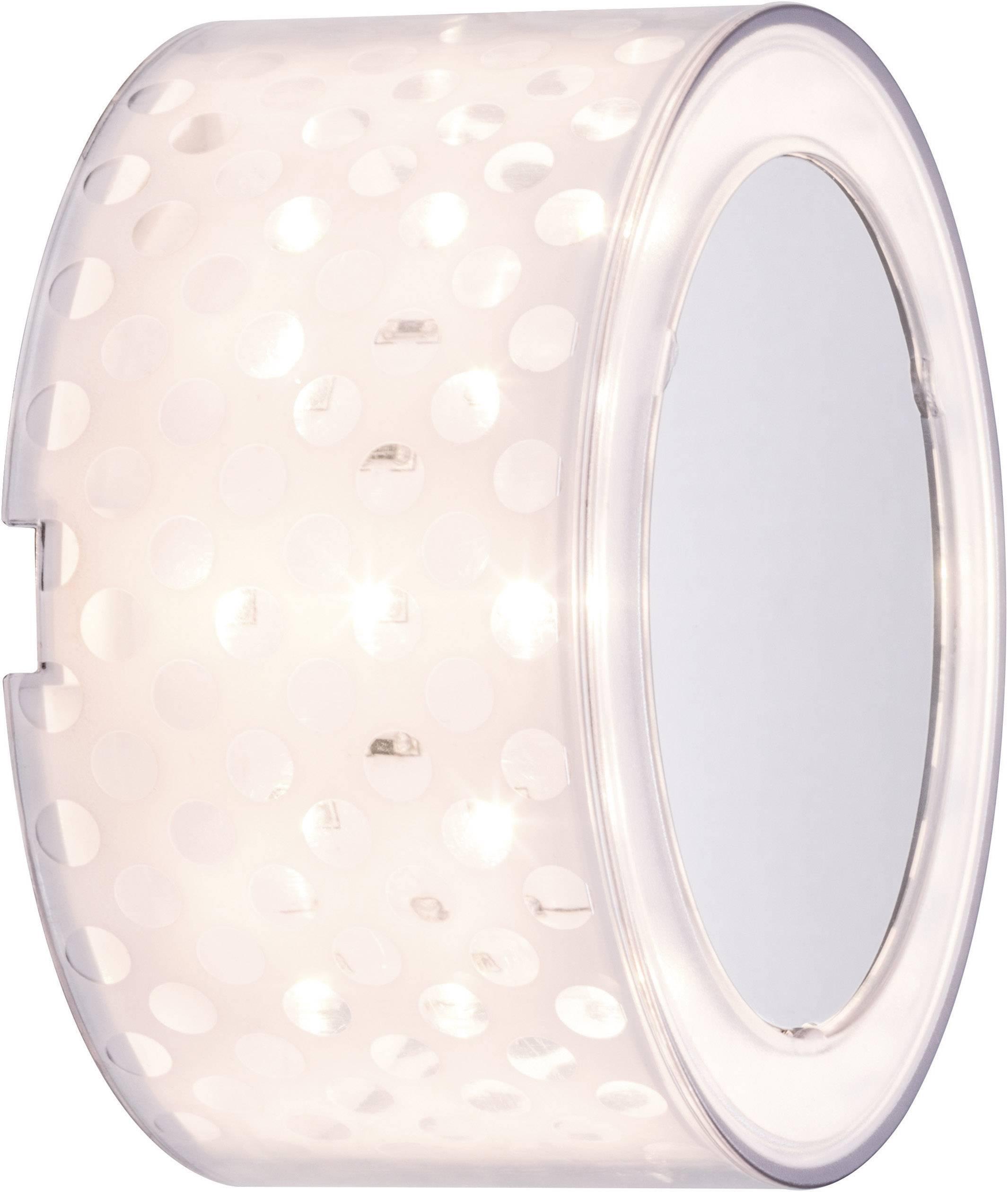LED nástenné svetlo Paulmann DecoBeam 70291, 2.5 W, teplá biela, chróm (matný), priehľadná, biela (matná)