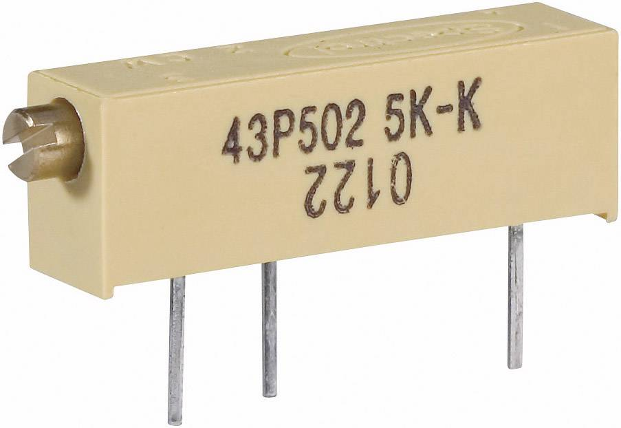Vretenový trimer Vishay 0122 1 W 50R, lineárny, 50 Ohm, 0.75 W, 1 ks