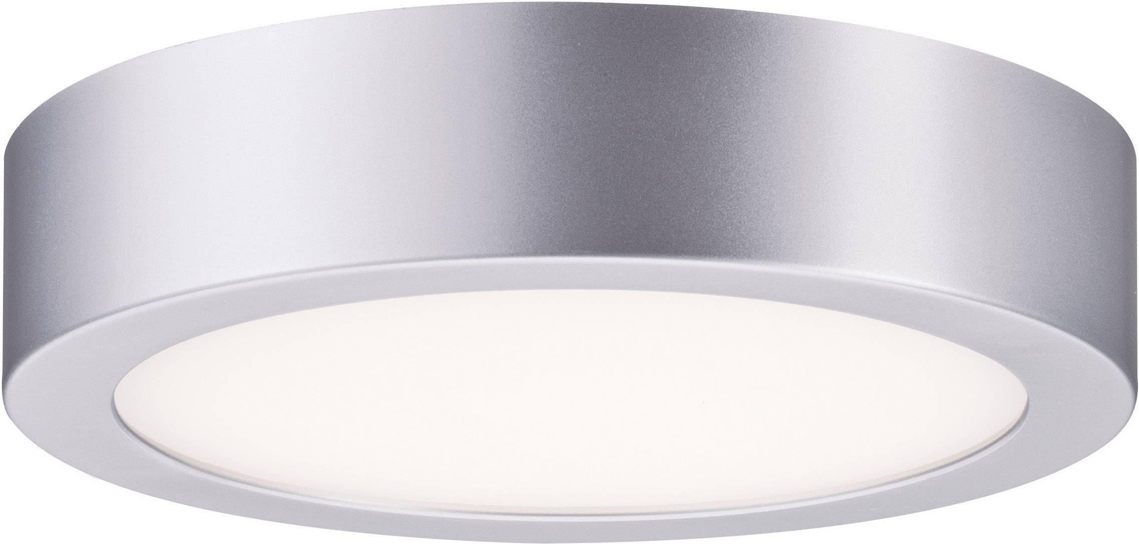 LED stropné svietidlo Paulmann Orbit 70388, vonkajší Ø 20 cm, teplá biela, chróm (matný), biela