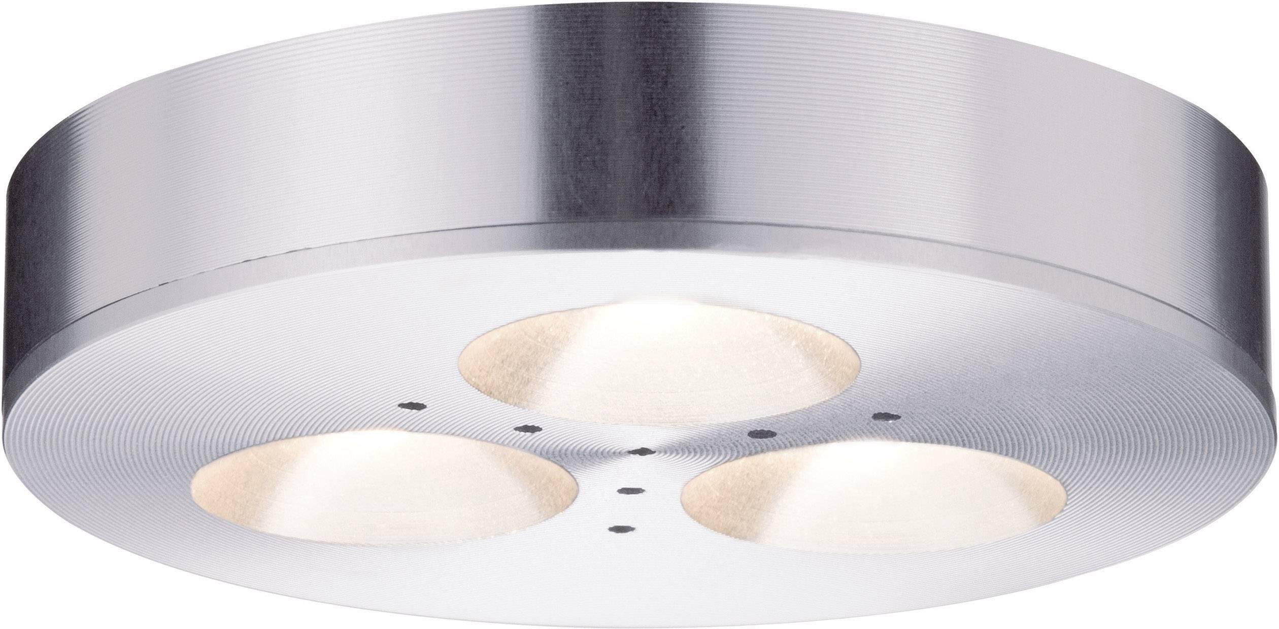 LED osvetlenie na stenu / strop Paulmann Micro Line Plane 9 W teplá biela sada 3 ks hliník