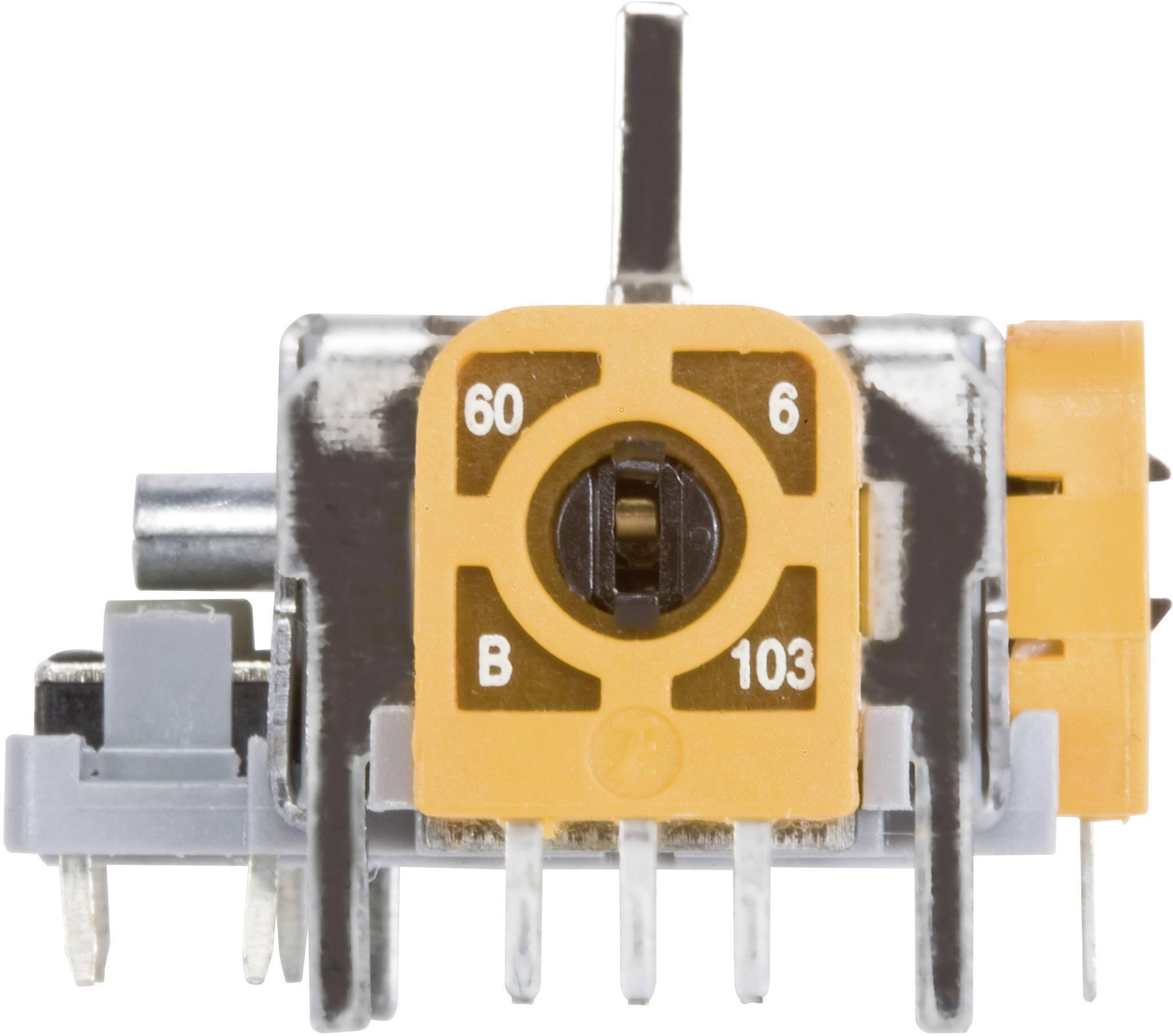 3D joystick so spínačom 98002C1, spájkovacie piny, 12 V/DC, 1 ks