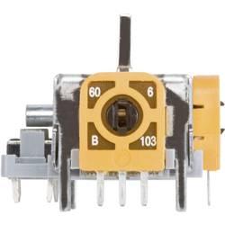 Joystick rovná kovová páka TRU COMPONENTS 98002C6, spájkovacie piny, 12 V/DC, 1 ks