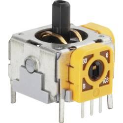 Joystick rovná kovová páka TRU COMPONENTS 98002C2, spájkovacie piny, 12 V/DC, 1 ks