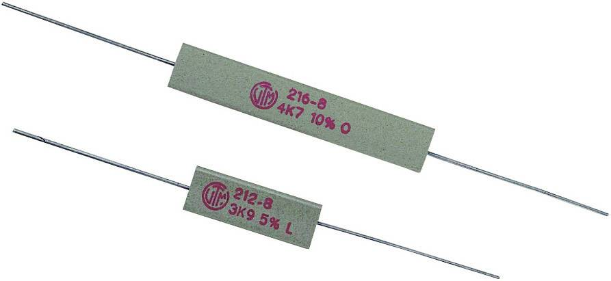 Vysokovýkonný rezistor VitrOhm KH208-810B180R, hodnota odporu 180 Ohm, axiálne vývody, 5 W, 1 ks