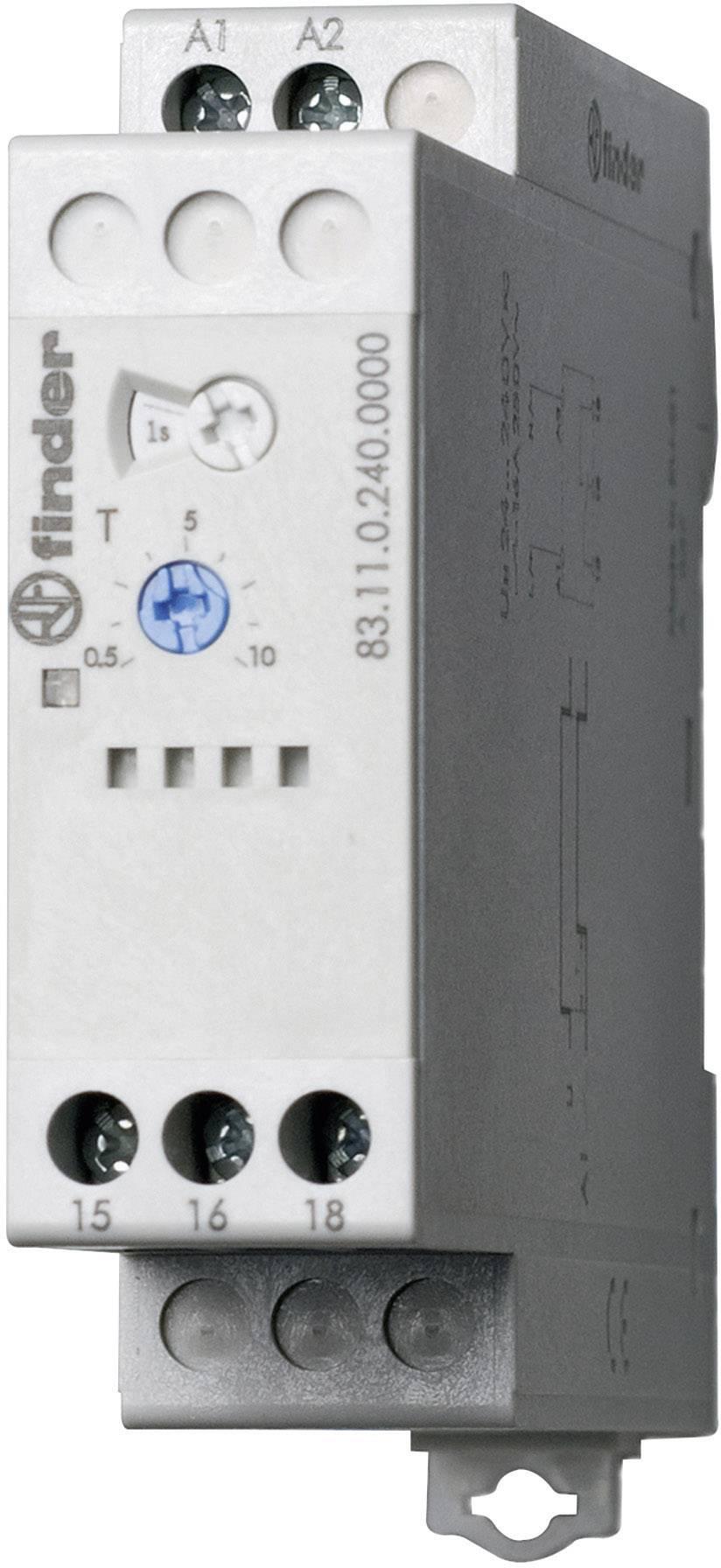 Průmyslové časové relé Finder, 83.11.0.240.0000, 16 A, 400 V/AC