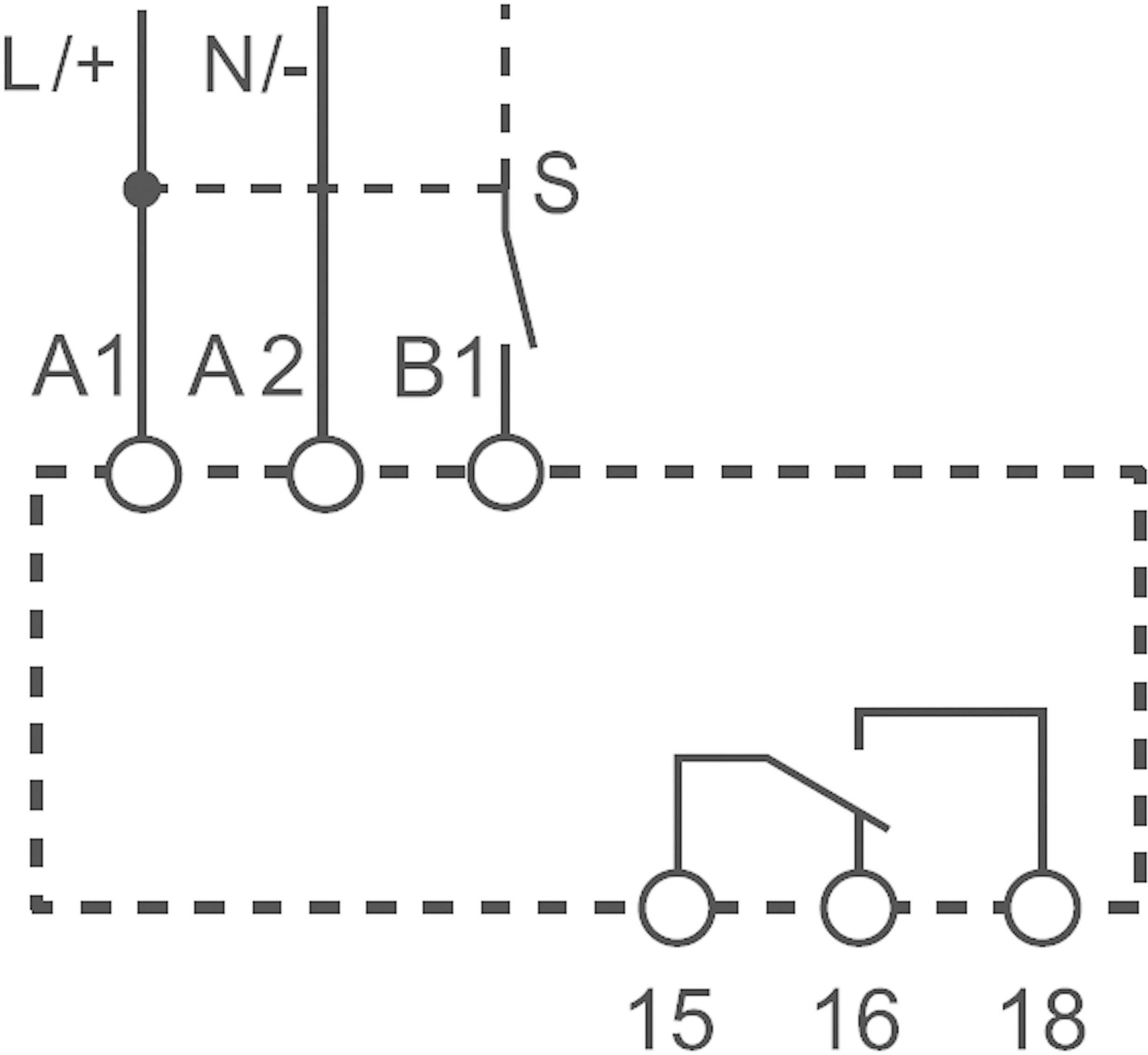Průmyslové časové relé Finder, 83.41.0.240.0000, 16 A, 400 V/AC