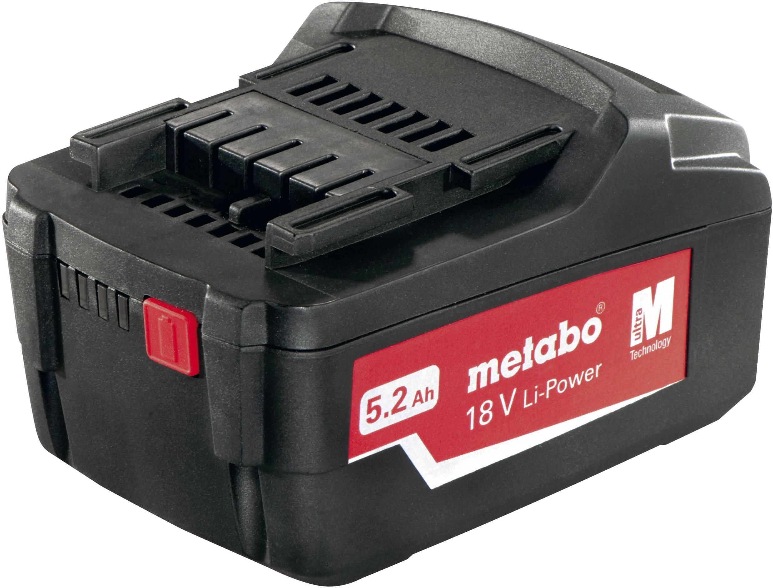 Akumulátor Metabo, 18 V, 5.2 Ah, 6.25587.00