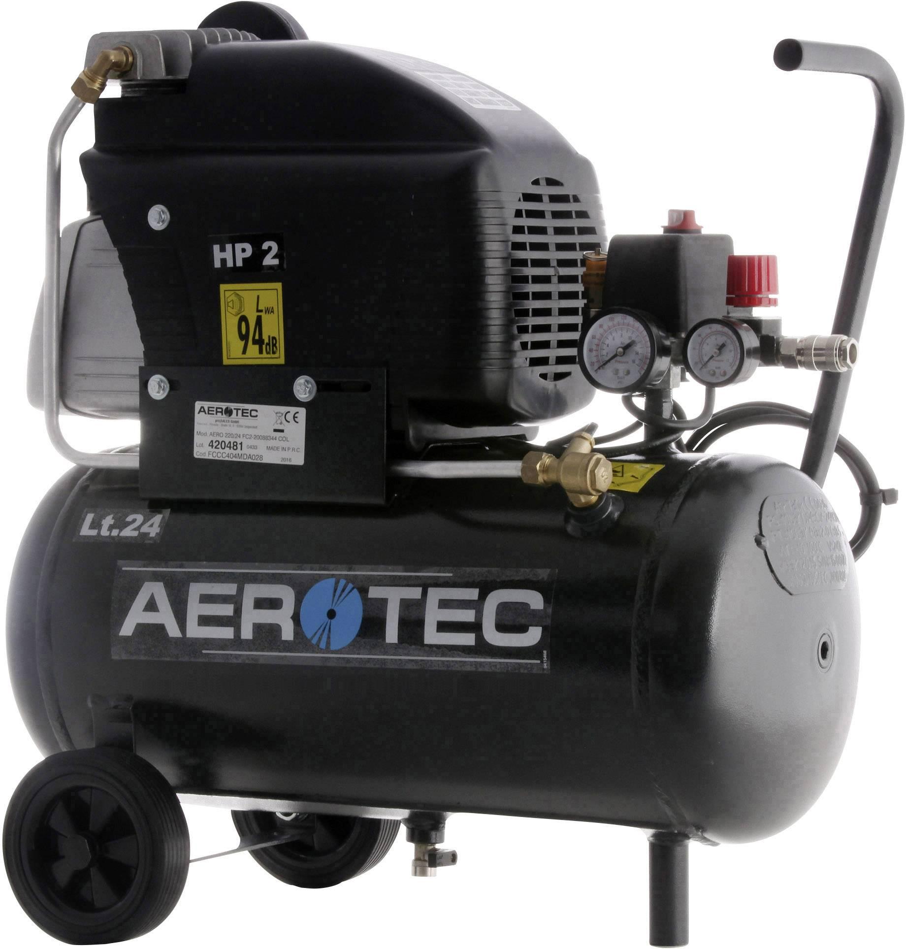Pístový kompresor Aerotec 220-24FC 20088344, objem tlak. nádoby 24 l