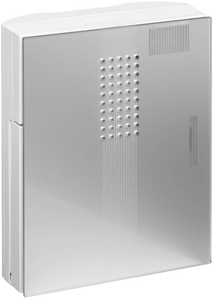 Elektrický gong Grothe Croma 230A, 43190, 8 V - 12 V, 86 dBA, bílá/stříbrná