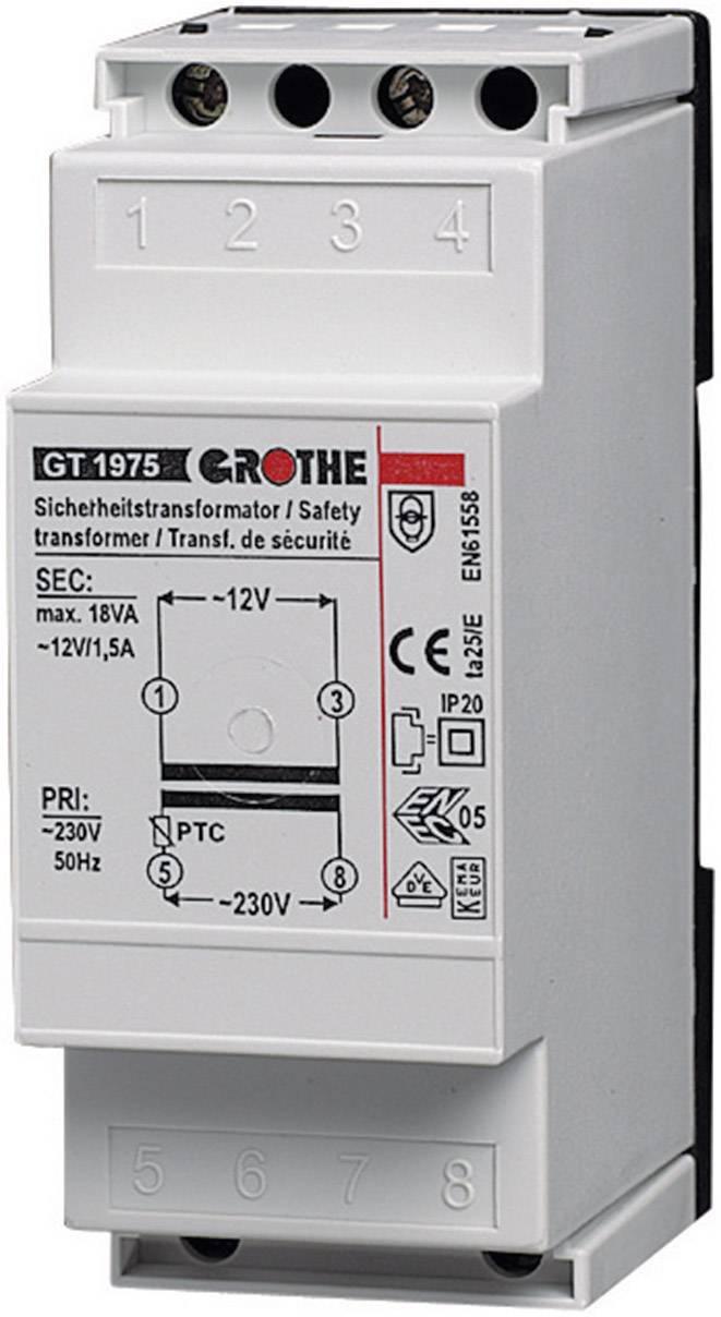 Zvonkový transformátor na lištu Grothe GT 1965, 8 V, 230-240 V/AC, 14102