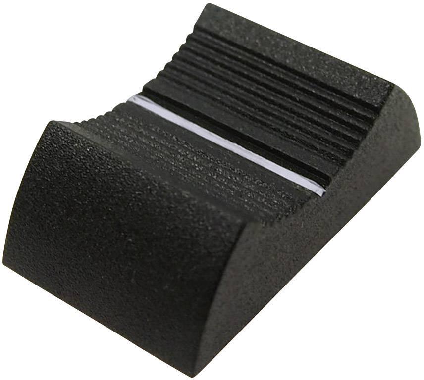 Knoflík na posuvný potenciometr Cliff CP3346, CS9, 4 mm, hnědá