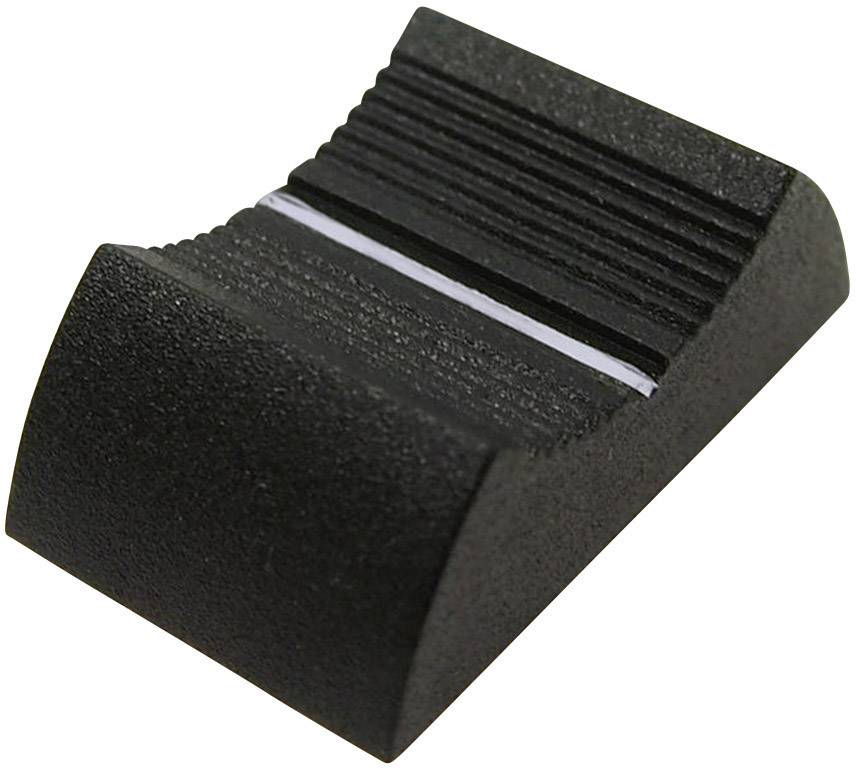 Knoflík na posuvný potenciometr Cliff CP3356, CS9, 4 mm, šedá
