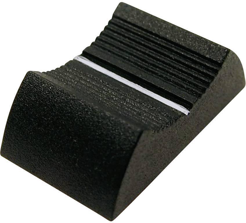 Posuvný gombík Cliff CP33350, (d x š x v) 27 x 16 x 7 mm, čierna, 1 ks