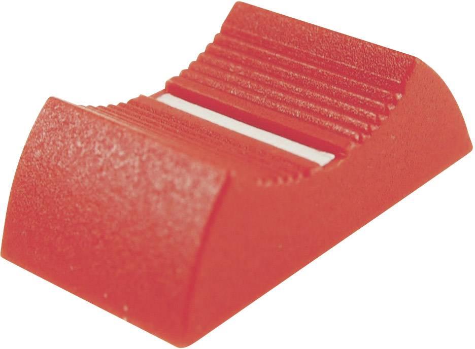 Posuvný gombík Cliff CP3360, (d x š x v) 27 x 16 x 7 mm, červená, 1 ks