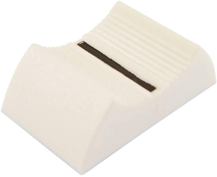 Posuvný gombík Cliff CP3365, (d x š x v) 27 x 16 x 7 mm, biela, 1 ks