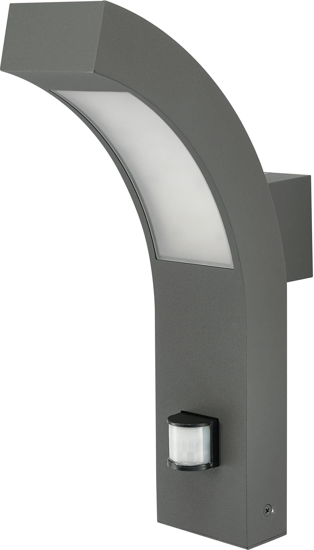 LEDvonkajšienástennéosvetleniesPIR senzorom 4.2 W teplá biela 12535 antracitová