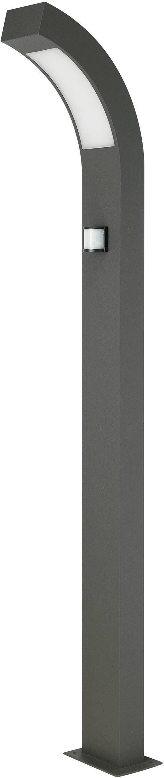 LEDvonkajšiastojaca lampas PIR senzorom Prebent 12537-1000, 3.84 W, teplá biela, antracitová