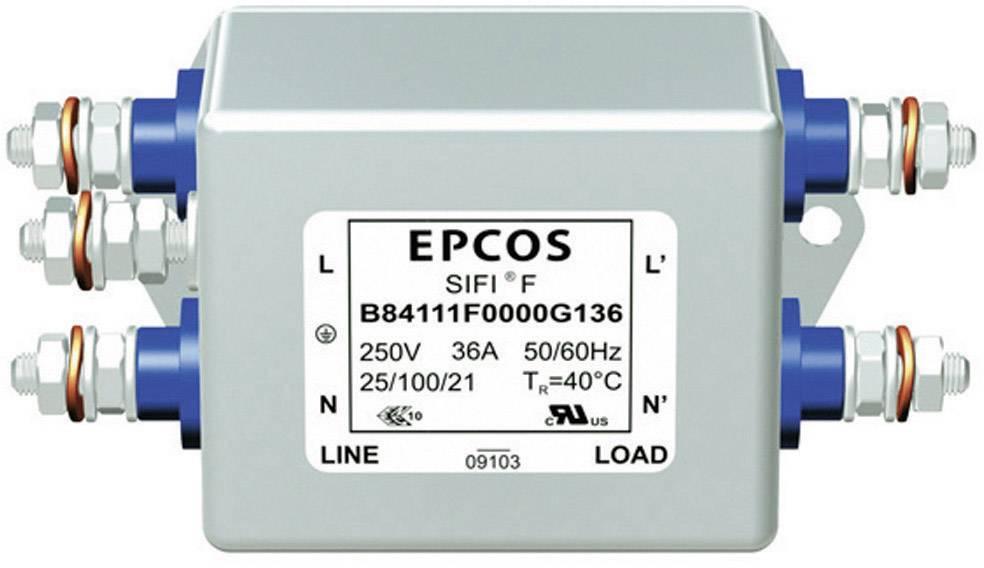 Síťový filtr Epcos, B84111A0000B110, 0,82 mH, 250 V, 2 x 10 A