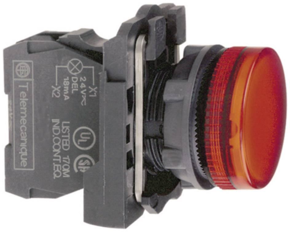 Signálka Schneider Electric XB5AVM4, 22,5 mm, šroubovací, červená