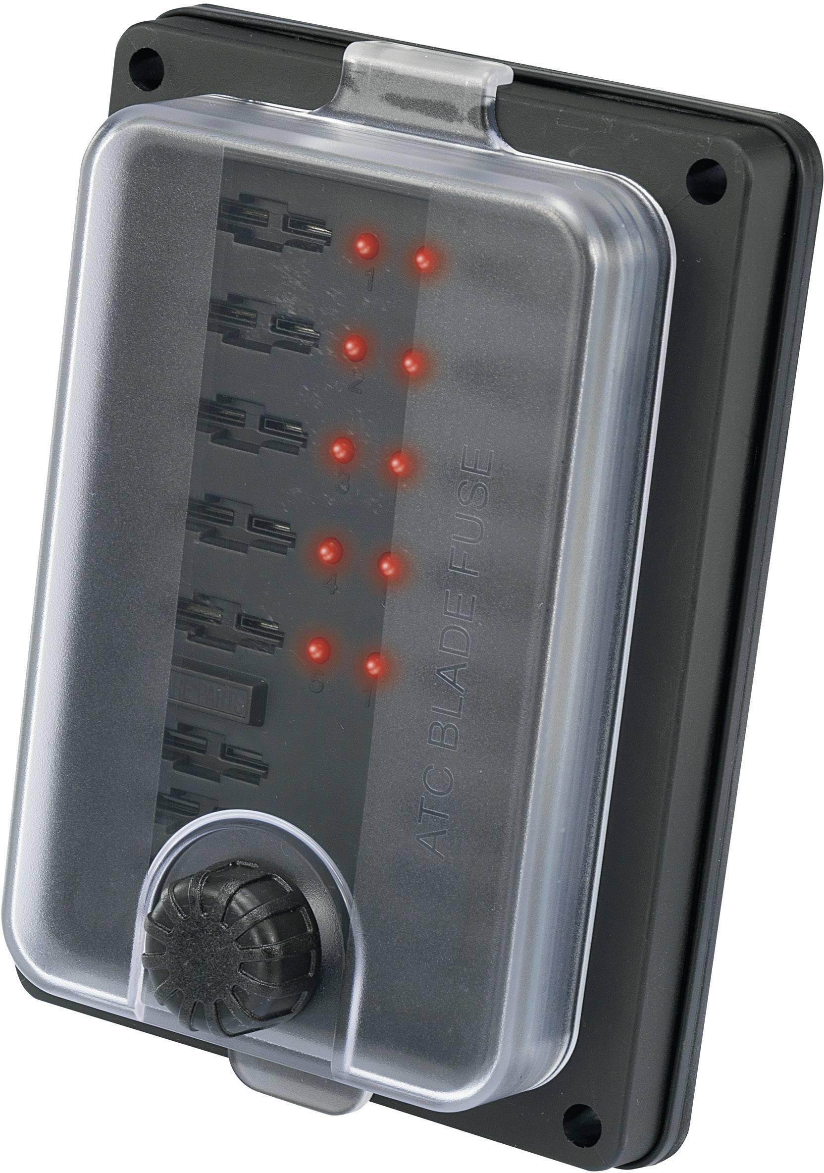 Držák pojistky se zobrazením stavu vhodné pro standardní plochá pojistka 25 A 32 V/DC TRU COMPONENTS TC-R3-83-01-1L310 1 ks