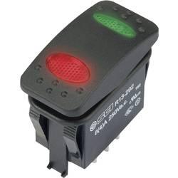 Kolébkový spínač s aretací TRU COMPONENTS TC-R13-292D6-01-BBRG-22RG0500, 250 V/AC, 8 A, 1x zap/vyp/zap