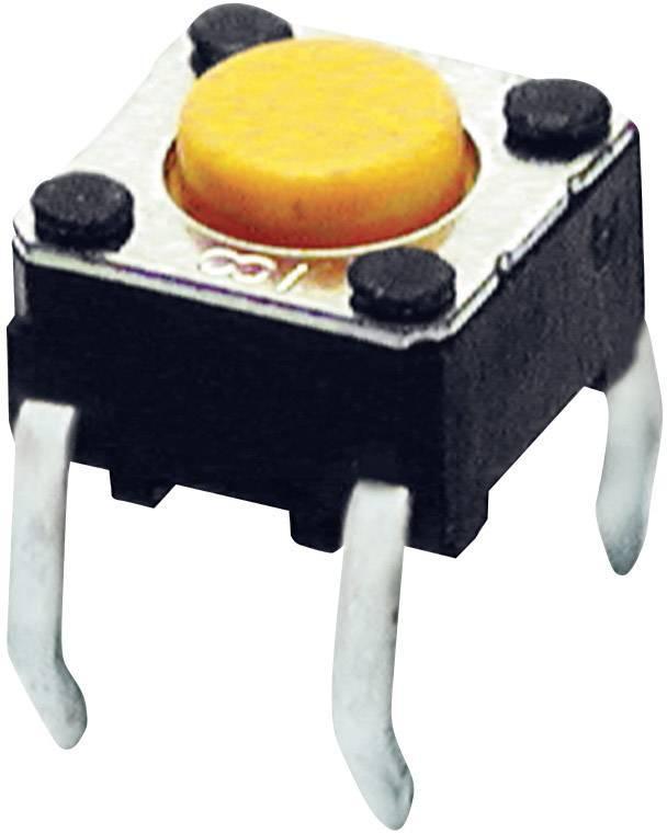 Tlačítko Omron B3F1002, 24 V/DC, 0,05 A, pájecí piny, 1x zap, 1x vyp/(zap)