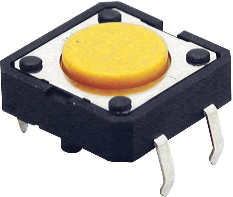 Tlačítko Omron B3F4000, 24 V/DC, 0,05 A, pájecí piny, 1x zap, 1x vyp/(zap)