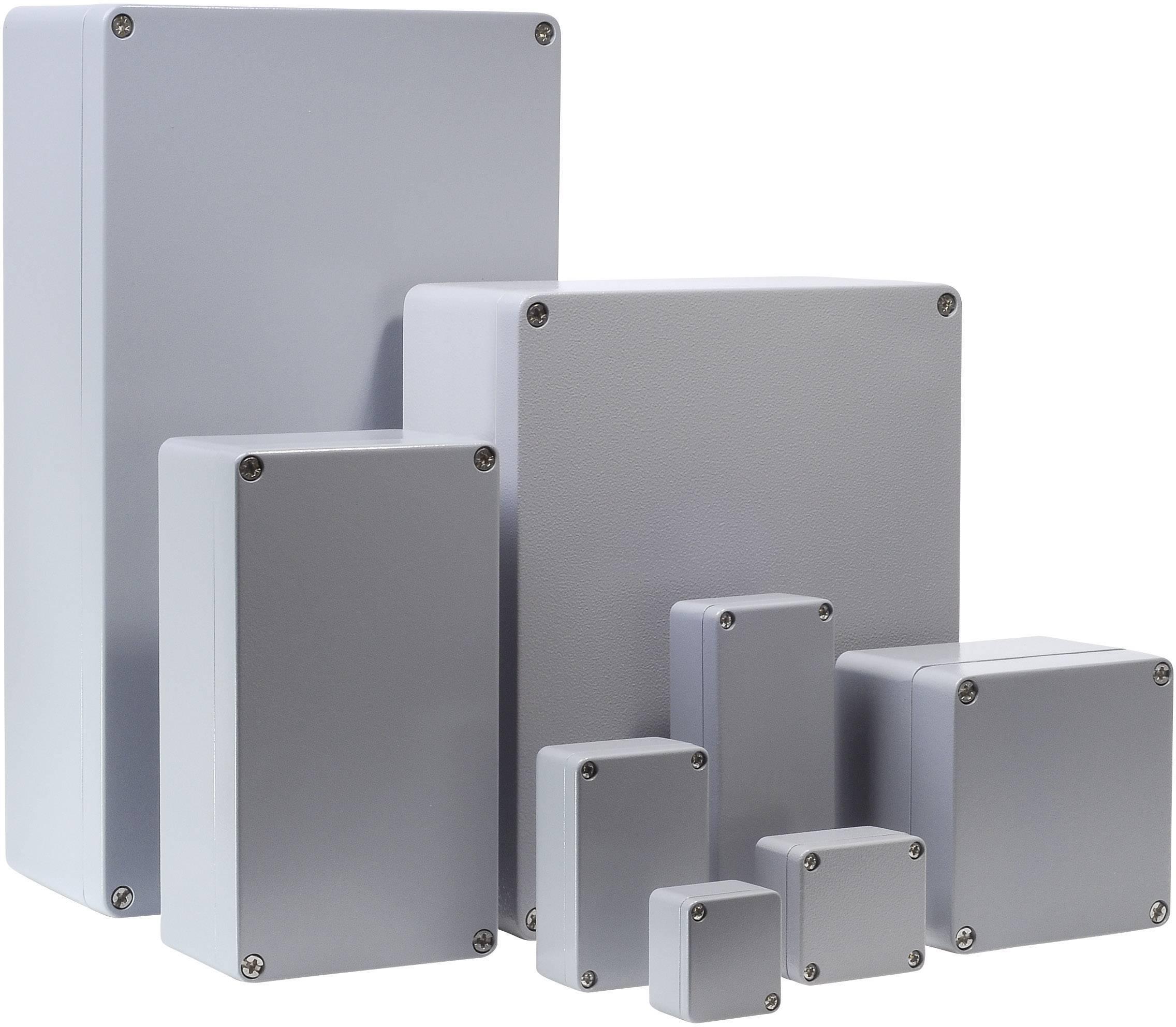 Univerzální pouzdro hliníkové Bernstein AG CA-215, (d x š x v) 122 x 122 x 90 mm, stříbrná