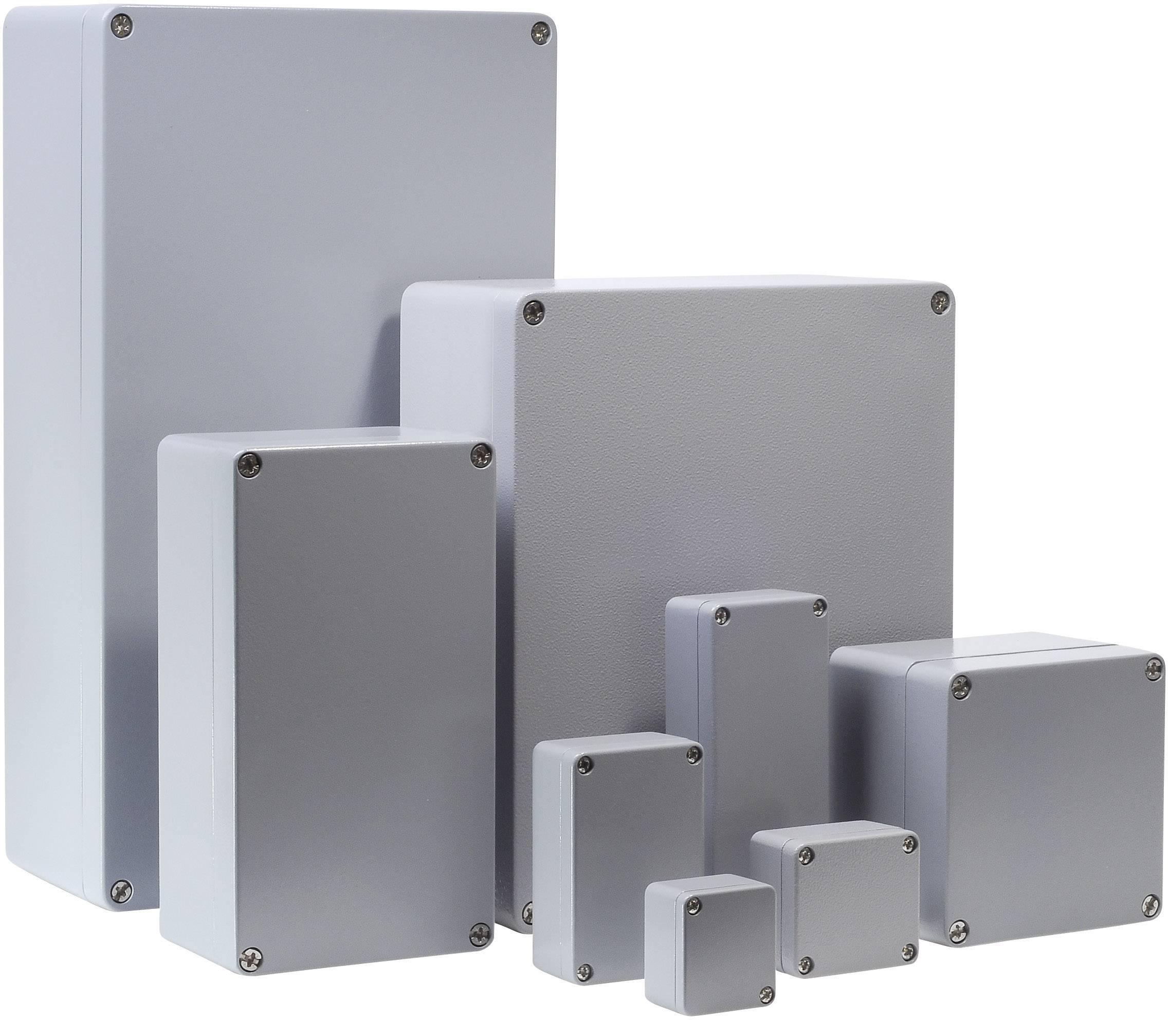 Univerzální pouzdro hliníkové Bernstein AG CA-230, (d x š x v) 220 x 122 x 80 mm, stříbrná