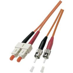 Optické vlákno kabel EFB Elektronik O6353.1 [1x ST zástrčka - 1x zástrčka SC], 1 m, oranžová