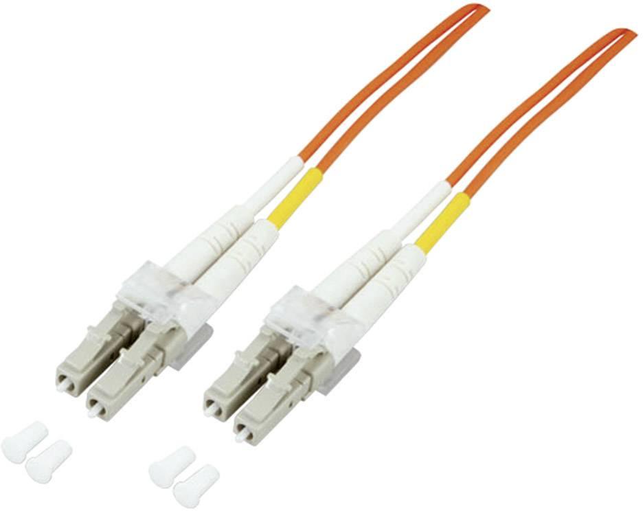 Optické vlákno optické vlákno kabel EFB Elektronik O0310.1 [1x zástrčka LC - 1x zástrčka LC], 1 m, oranžová