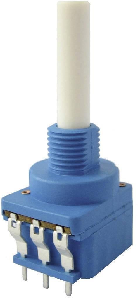 Otočný potenciometer s otočným spínačom mono Weltron WSFA202-A2-08-30F1-100K-20%-LIN 002045039180, 0.4 W, 100 kOhm, 1 ks