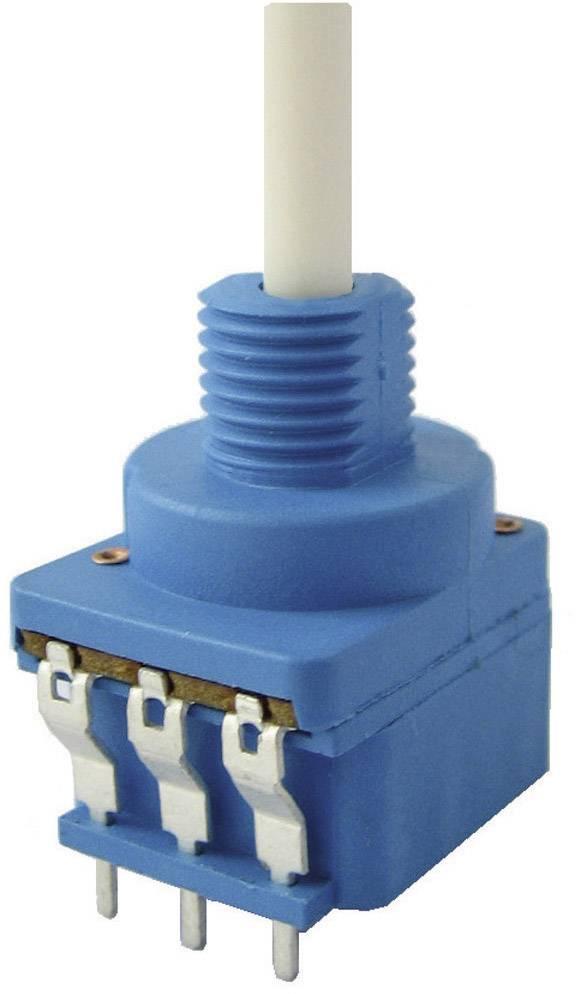 Otočný potenciometer so spínačom mono Weltron WPFA200-01-KC08-40F21-470K-20%-LIN 002045040948, 0.4 W, 470 kOhm, 1 ks