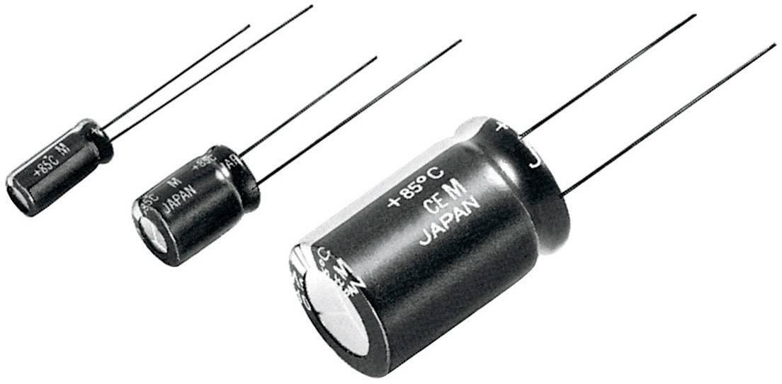 Kondenzátor elektrolytický Panasonic ECA1JM100, 10 µF, 63 V, 20 %, 11 x 5 x 5 mm